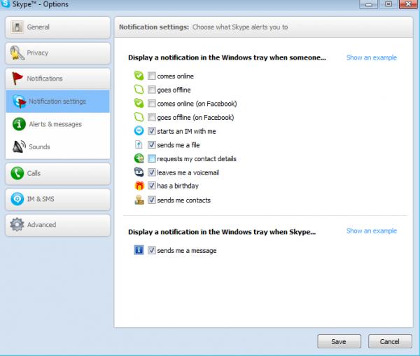 Skype Notifications