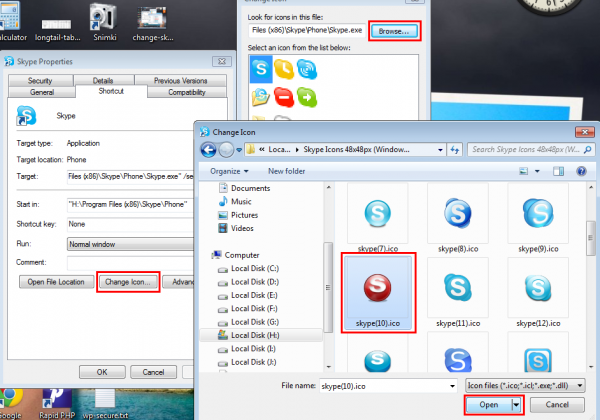 how to delete old skype files