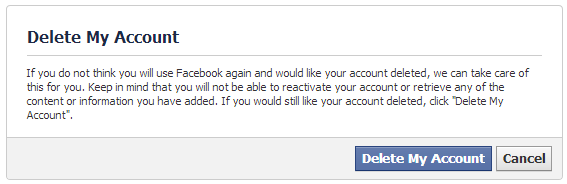 Deleting a Facebook profile